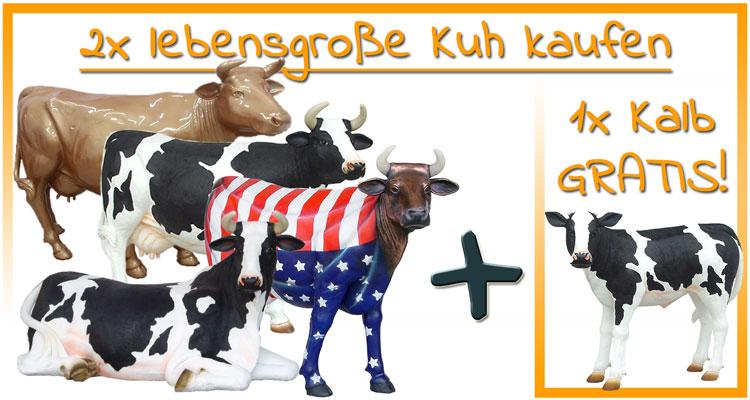 Hierzu einfach 2 beliebige lebensgroße Kühe in den Warenkorb hinzufügen!