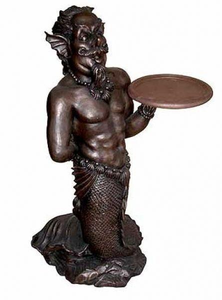 Neptun mit Tablett