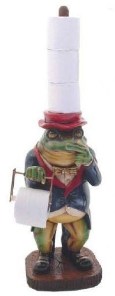 kleiner Frosch als Klopapierhalter