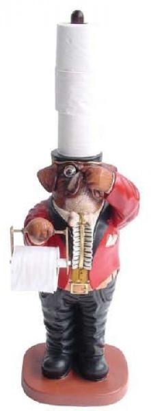 Boxer Hund als Klopapierhalter