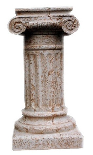 Säule mit Schneckenkapitell Antikfinish