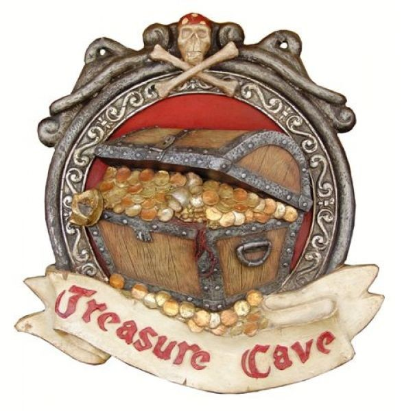 Treasure Cave Schild