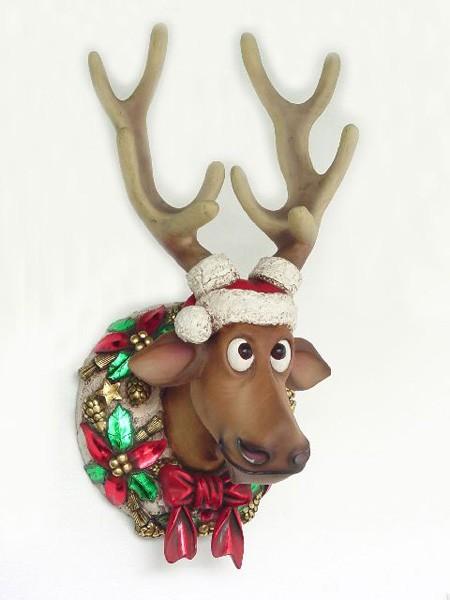 Weihnachtlicher Rentierkopf