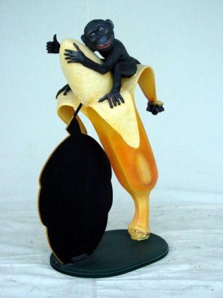 Affe auf Banane mit Display