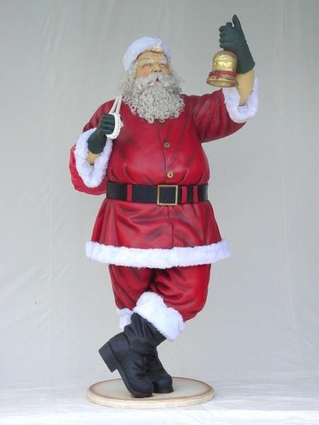 Weihnachtsmann groß mit Glöckchen