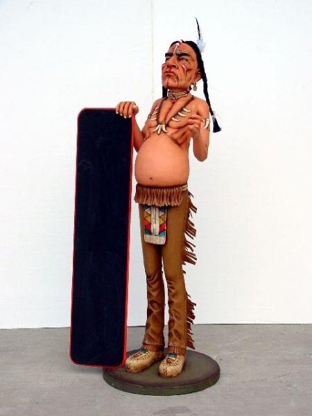 Indianer mit Menütafel