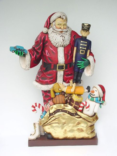 Weihnachsmann mit Geschenken