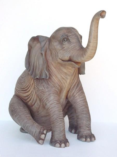 Baby Elefant sitzend