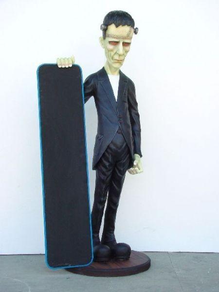 Frankenstein mit Angebotstafel