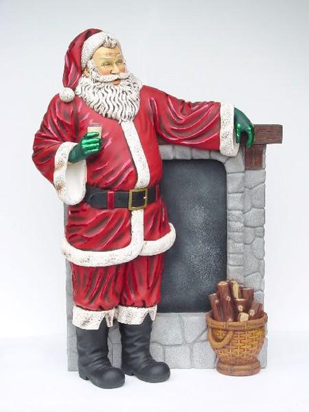 Weihnachtsmann am Kamin