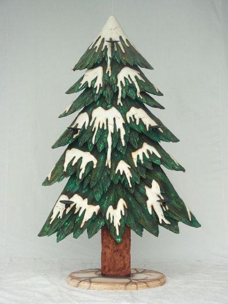 Tannenbaum mit Kerzenhalter