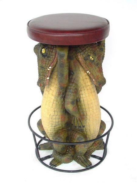 Barhocker Krokodil