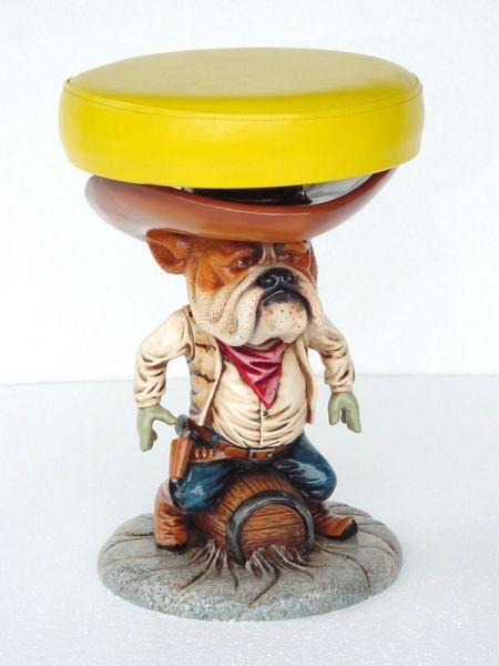 Kinderhocker Cowboyhund