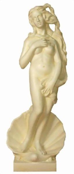 Antike Frauenfigur stehend in Muschel