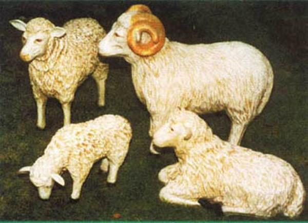 Schafgruppe 4 tlg.