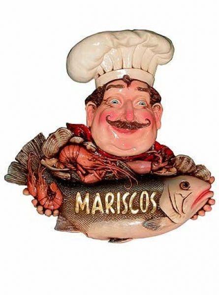 Koch mit Fisch