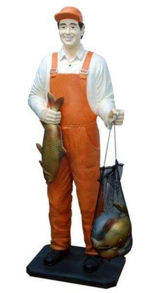Fischer mit Fischen