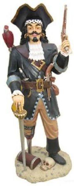 Piraten Kapitain mit Holzbein und Papagai