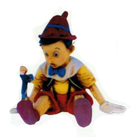 Pinocchio sitzend