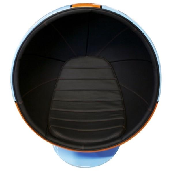 kugelsessel blau orange 20 walt deko. Black Bedroom Furniture Sets. Home Design Ideas
