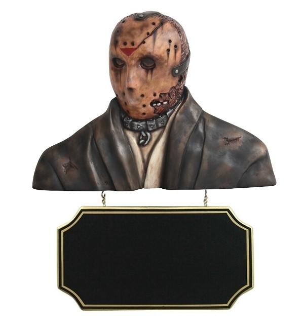 Monster Jason Voorhees Büste mit Angebotsschild