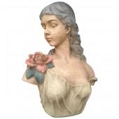 Lady Büste mit Blumen