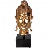 Buddha Kopf auf Sockel