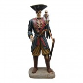 Piraten Skelett groß mit Äffchen
