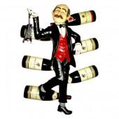 Weinkellner als Weinhalter zur Wandbefestigung