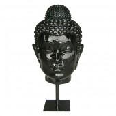 Spiritueller Buddhakopf auf Sockel