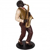Neger als Saxophonist Jazz