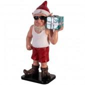 sonniger Weihnachtsgehilfe Elf mit Geschenk klein