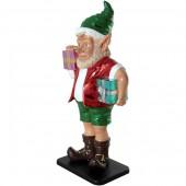 sonniger Weihnachtsgehilfe Elf mit Geschenken