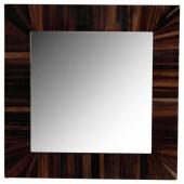 Quadratischer Spiegel Holzoptik