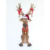 Rentier sitzend lustig weihnachtlich