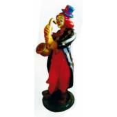 großer Clown mit Saxophon und Hut