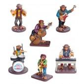 Komplette Affenband Music-Monkeys