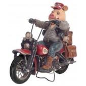 Biker auf Chopper
