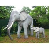 Elefant mit Baby