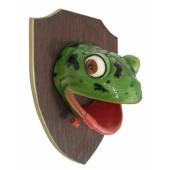 Froschkopf auf Holz