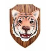 Tigerkopf auf Holz