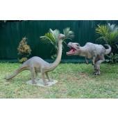 Dinosaurier Brachiosaurus und Tyrannosaurus klein
