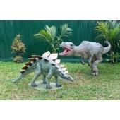 Dinosaurier Stegosaurus und Tyrannosaurus klein