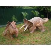 Dinosaurier Triceratops und Stegosaurus klein
