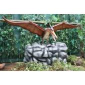 Dinosaurier Pteranodon auf Stein