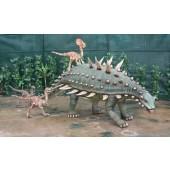 Dinosaurier Gastonia mit kleinen Raptors