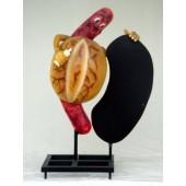 Bratwurst im Brötchen mit Display 1