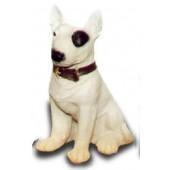 Bullterrier Kampfhund sitzend klein
