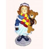 Wintermädchen mit Teddy