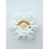 Weihnachtsmanngesicht mit Bart als Schneeflocke klein